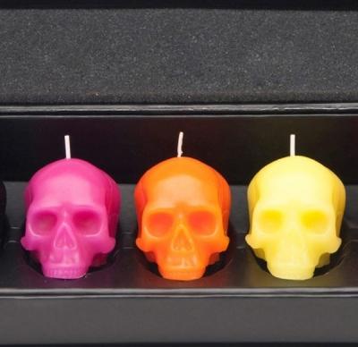 Zauberhaft D L Co Totenkopf Kerzen