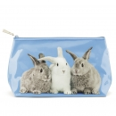 Cosmetic Bag Rabbits on Blue