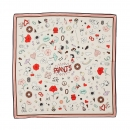 Codello Seiden Foulard Peanuts Love Rose