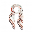 Codello Seiden Foulard Peanuts Love Weiss